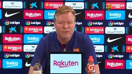 Koeman destacó su trabajo en Barcelona