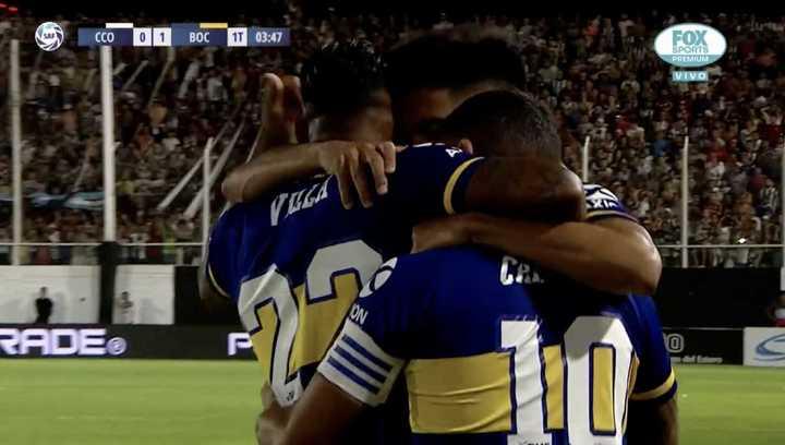 Tevez puso el 1 a 0 para Boca