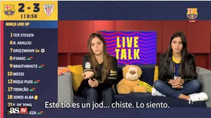 A las chicas de Barsa TV se les fue la boca por Messi
