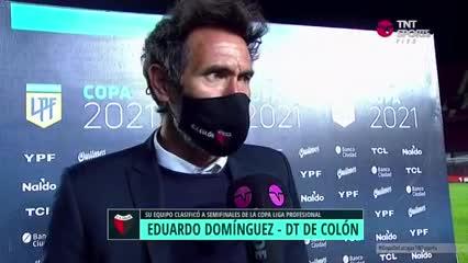 La emoción de Domínguez en la clasificación de Colón