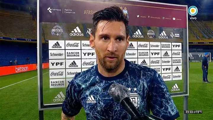 La palabra de Messi luego del triunfo