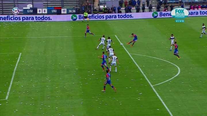 El gol anulado a Unión por posición adelantada de Mazzola