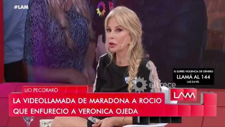Alfano habló de su affaire con Maradona