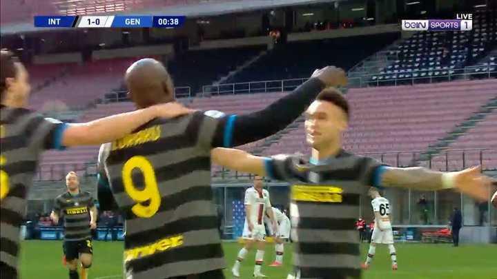 La goleada de Inter a Genoa por 3 a 0