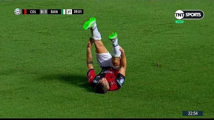 Fuerte calambre de Hernández