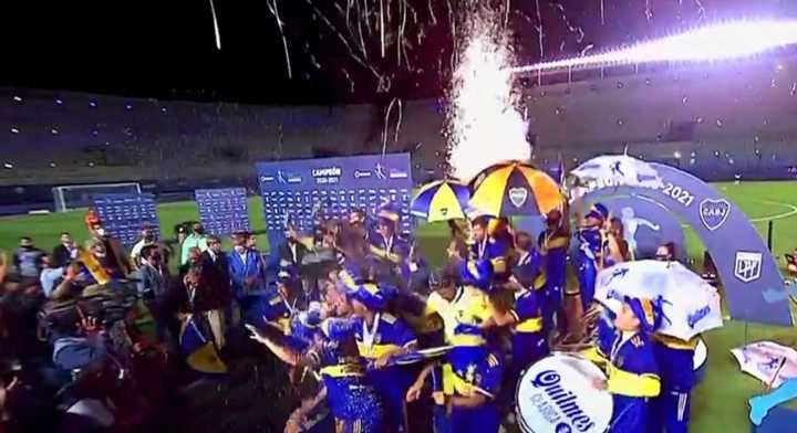 El festejo de Boca campeón