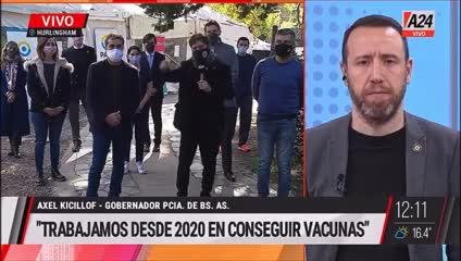 Las declaraciones de Kicillof sobre Almeyda y las vacunas