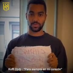 El homenaje de Nantes a Sala, con mensajes de jugadores
