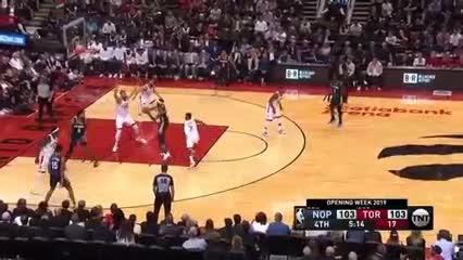 La NBA comenzó con la victoria de los Raptors sobre los Pelicans por 130 a 122.